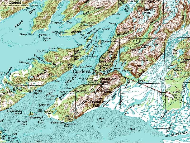Golden Stairs Ski Slopes - Alaska topo maps