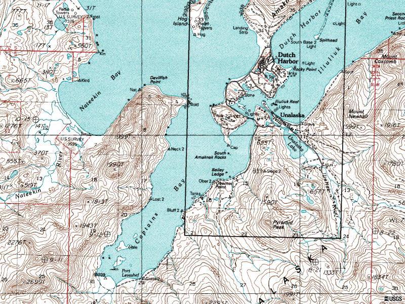 Map Unalaska Island